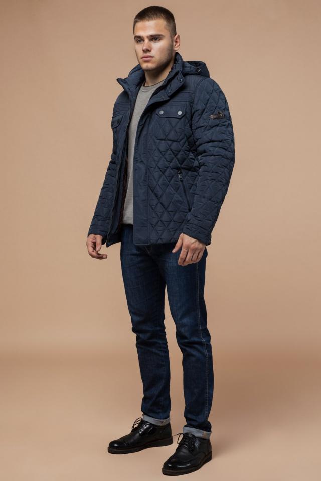 """Мужская качественная светло-синяя куртка на зиму модель 1698 Braggart """"Dress Code"""" фото 3"""