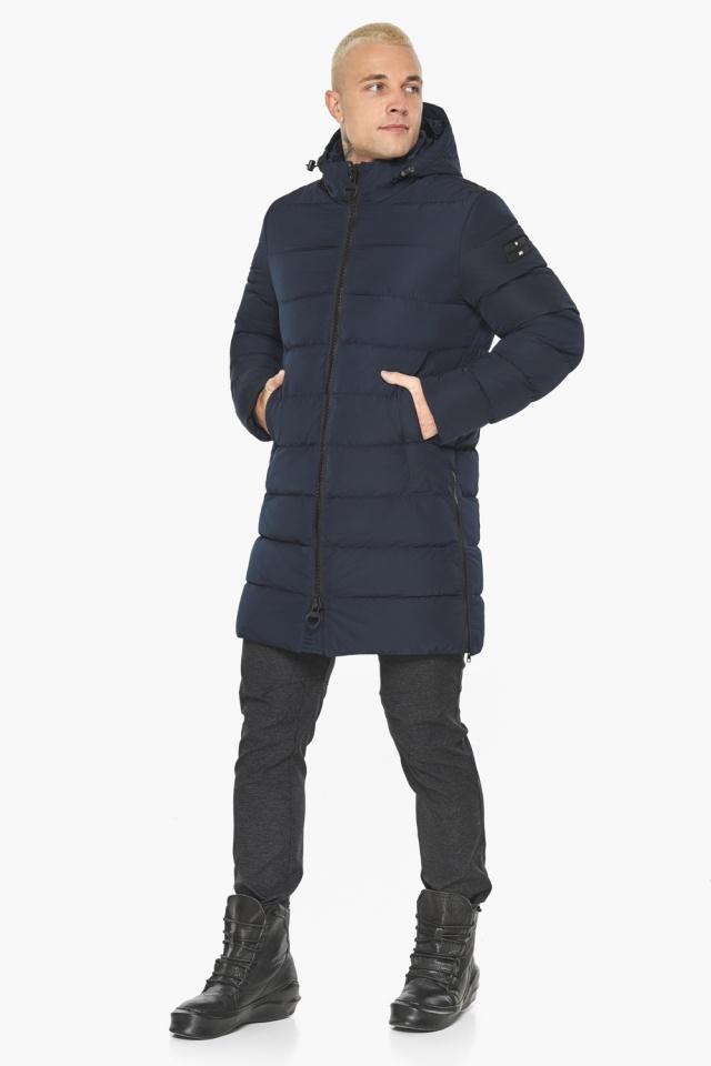 """Тёмно-синяя мужская зимняя куртка удобная модель 49032 Braggart """"Aggressive"""" фото 6"""