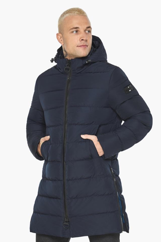 """Тёмно-синяя мужская зимняя куртка удобная модель 49032 Braggart """"Aggressive"""" фото 4"""