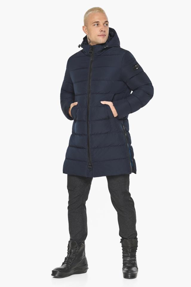 """Тёмно-синяя мужская зимняя куртка удобная модель 49032 Braggart """"Aggressive"""" фото 8"""