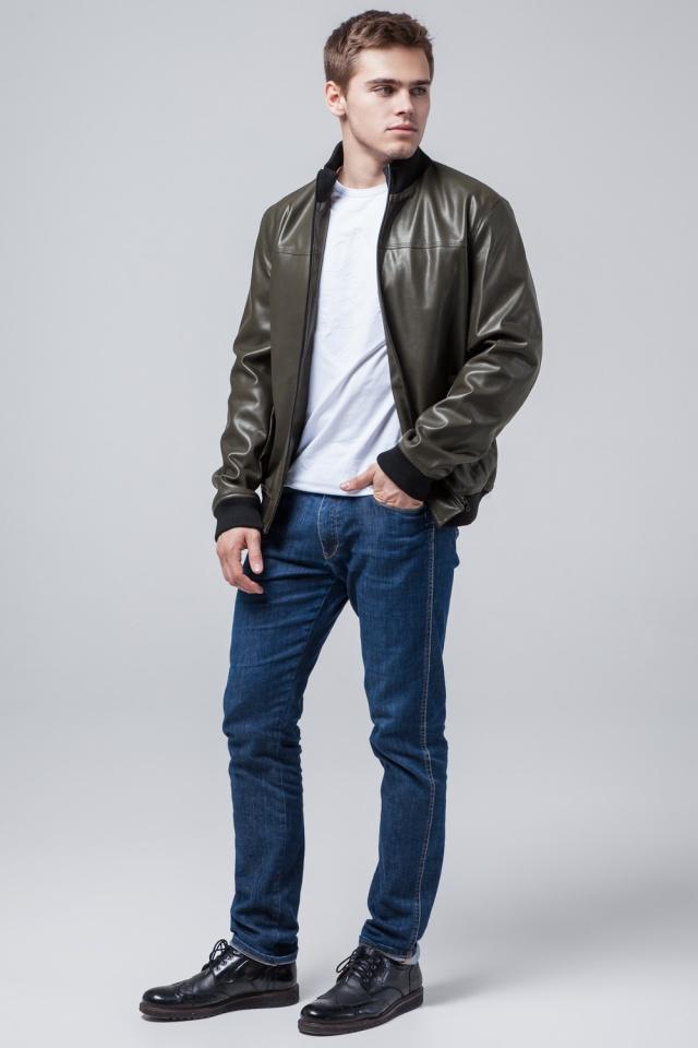 """Мужская куртка осенне-весенняя универсального цвета хаки модель 2970 Braggart """"Youth"""" фото 2"""