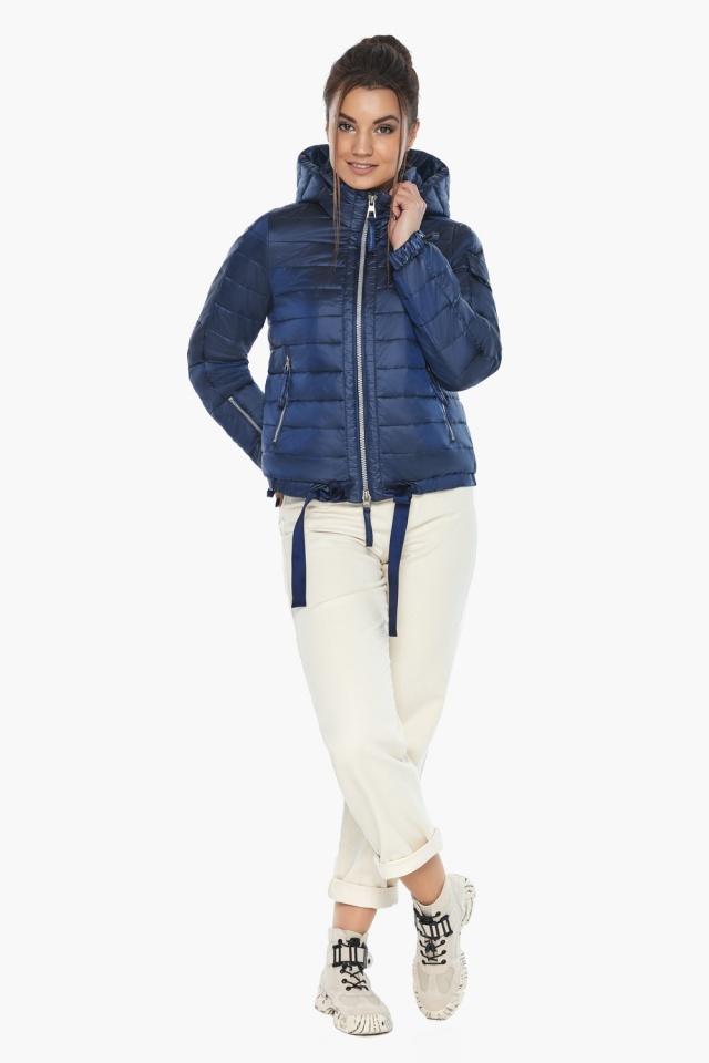 """Сапфировая куртка люксовая женская модель 62574 Braggart """"Angel's Fluff"""" фото 2"""