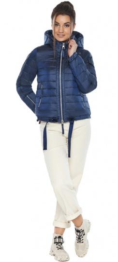 """Сапфировая куртка люксовая женская модель 62574 Braggart """"Angel's Fluff"""" фото 1"""