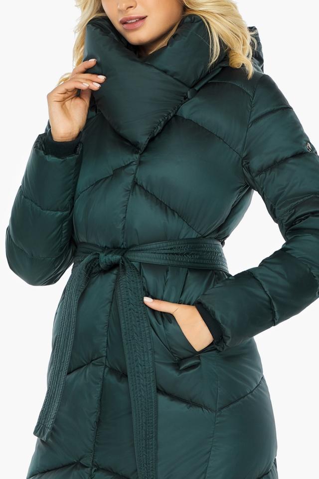 """Изумрудная зимняя куртка женская качественного пошива модель 47260 Braggart """"Angel's Fluff"""" фото 8"""