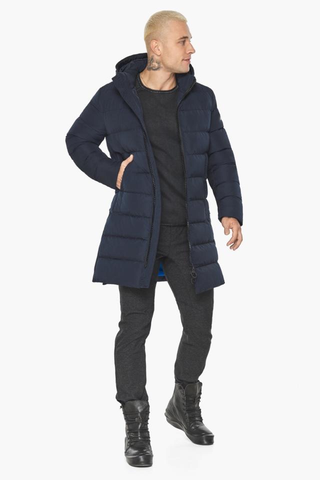 """Тёмно-синяя мужская зимняя куртка удобная модель 49032 Braggart """"Aggressive"""" фото 5"""