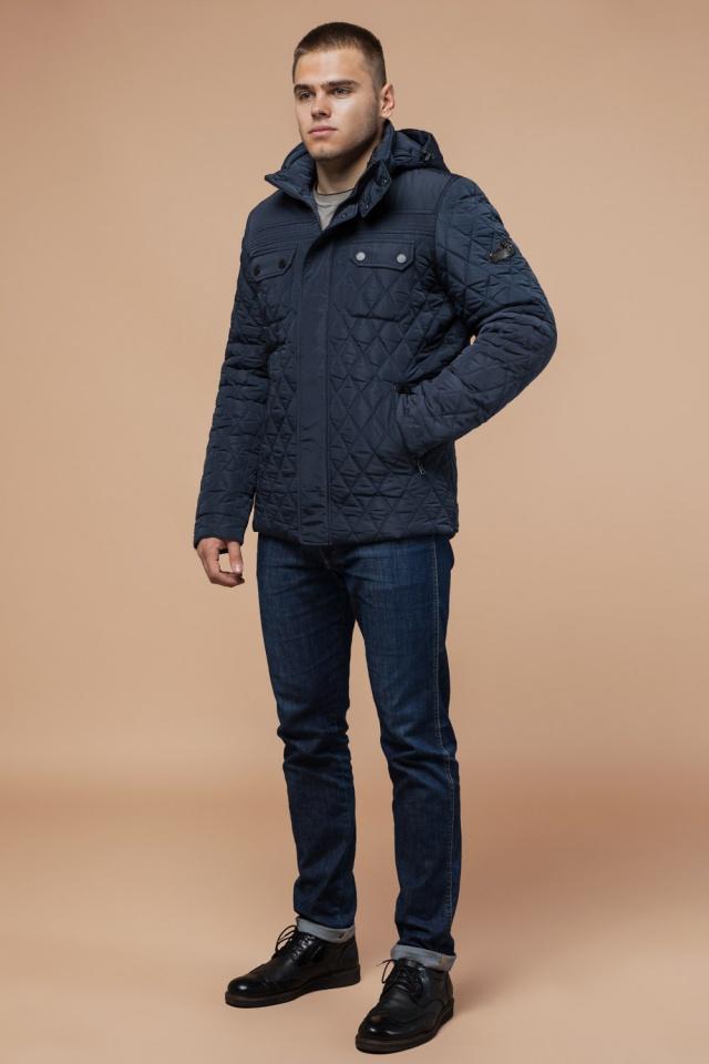 """Мужская качественная светло-синяя куртка на зиму модель 1698 Braggart """"Dress Code"""" фото 2"""