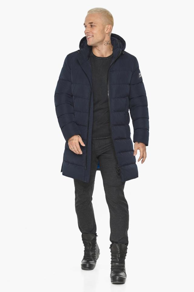 """Тёмно-синяя мужская зимняя куртка удобная модель 49032 Braggart """"Aggressive"""" фото 3"""