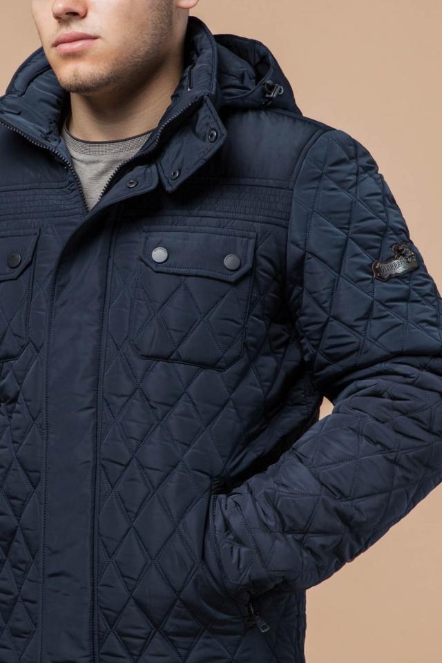 """Мужская качественная светло-синяя куртка на зиму модель 1698 Braggart """"Dress Code"""" фото 6"""