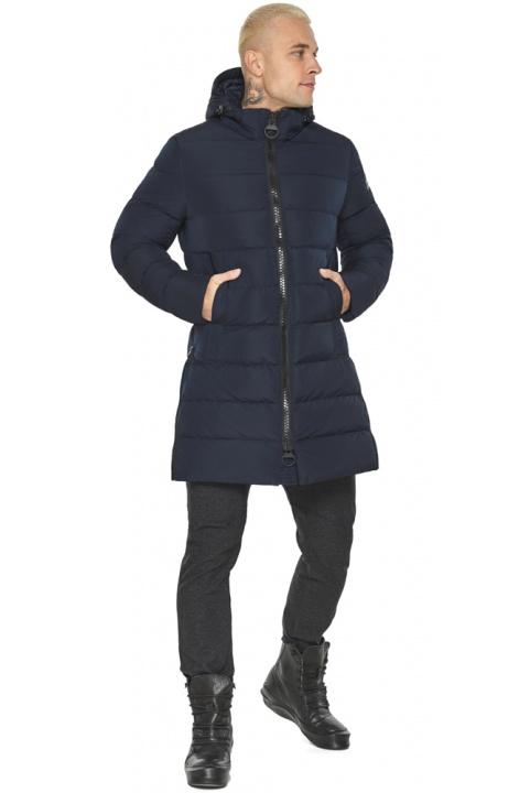 """Тёмно-синяя мужская зимняя куртка удобная модель 49032 Braggart """"Aggressive"""" фото 1"""