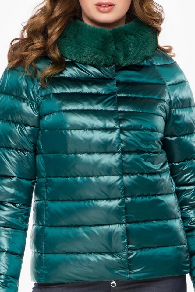 """Изумрудная удобная куртка женская модель 40267 Braggart """"Angel's Fluff"""" фото 6"""