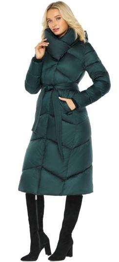 """Изумрудная зимняя куртка женская фирменная модель 47260 Braggart """"Angel's Fluff"""" фото 1"""