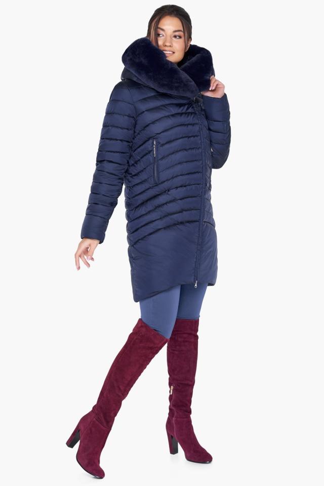 """Куртка трендовая синяя женская модель 31038 Braggart """"Angel's Fluff"""" фото 4"""