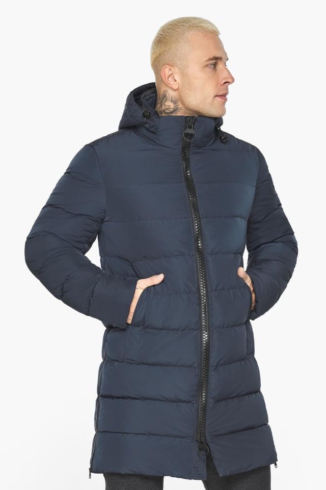 """Графитово-синяя оригинальная мужская куртка на зиму модель 49032 Braggart """"Aggressive"""" фото 5"""