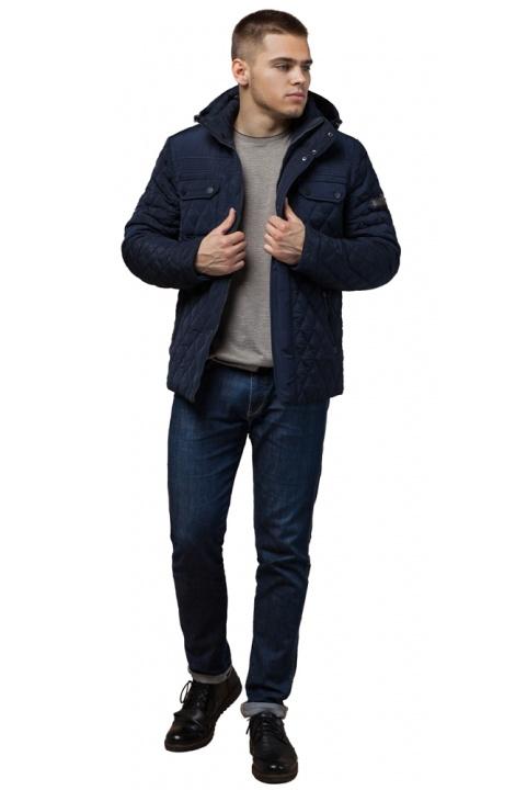 """Чоловіча зимова куртка стьобана колір синій модель 1698 Braggart """"Dress Code"""" фото 1"""