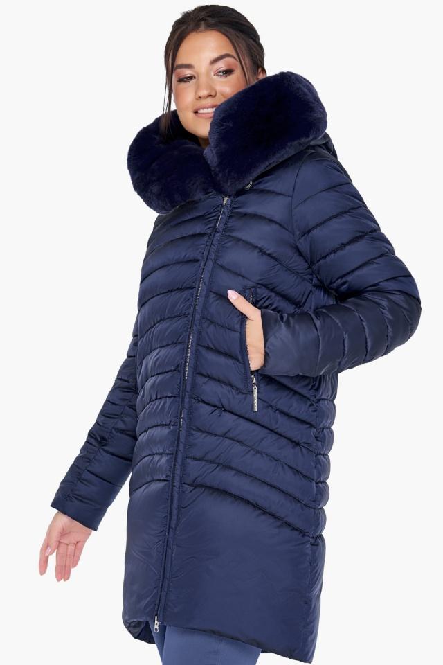 """Куртка трендовая синяя женская модель 31038 Braggart """"Angel's Fluff"""" фото 3"""