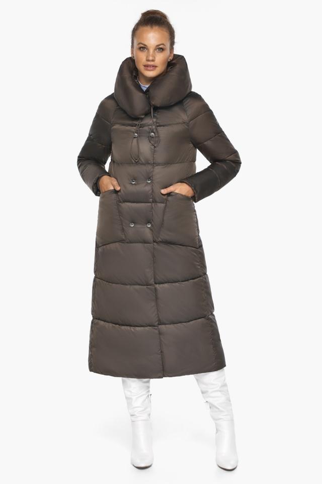 """Куртка женская с капюшоном зимняя цвет капучино модель 46150 Braggart """"Angel's Fluff"""" фото 6"""