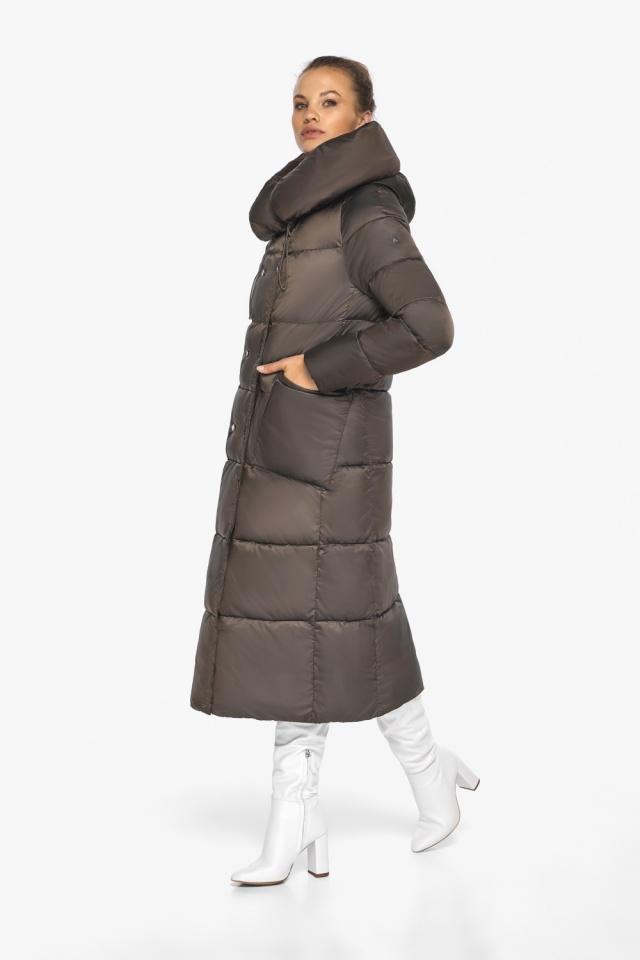 """Куртка женская с капюшоном зимняя цвет капучино модель 46150 Braggart """"Angel's Fluff"""" фото 7"""