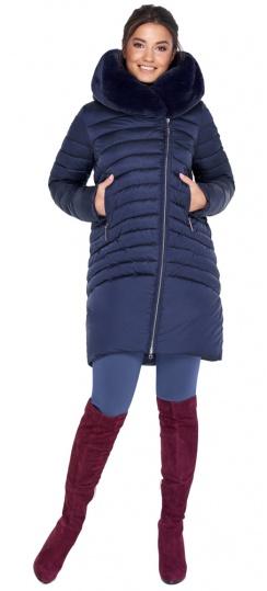 """Куртка трендовая синяя женская модель 31038 Braggart """"Angel's Fluff"""" фото 1"""