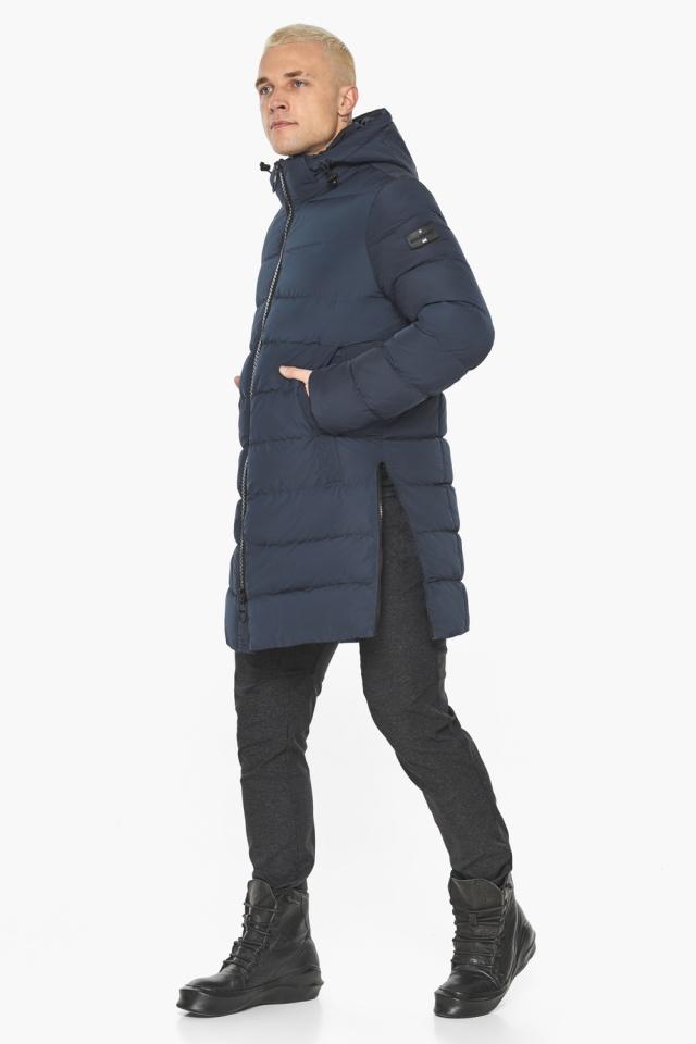 """Графитово-синяя оригинальная мужская куртка на зиму модель 49032 Braggart """"Aggressive"""" фото 4"""