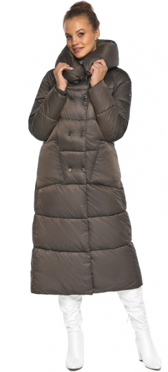 """Куртка женская с капюшоном зимняя цвет капучино модель 46150 Braggart """"Angel's Fluff"""" фото 1"""
