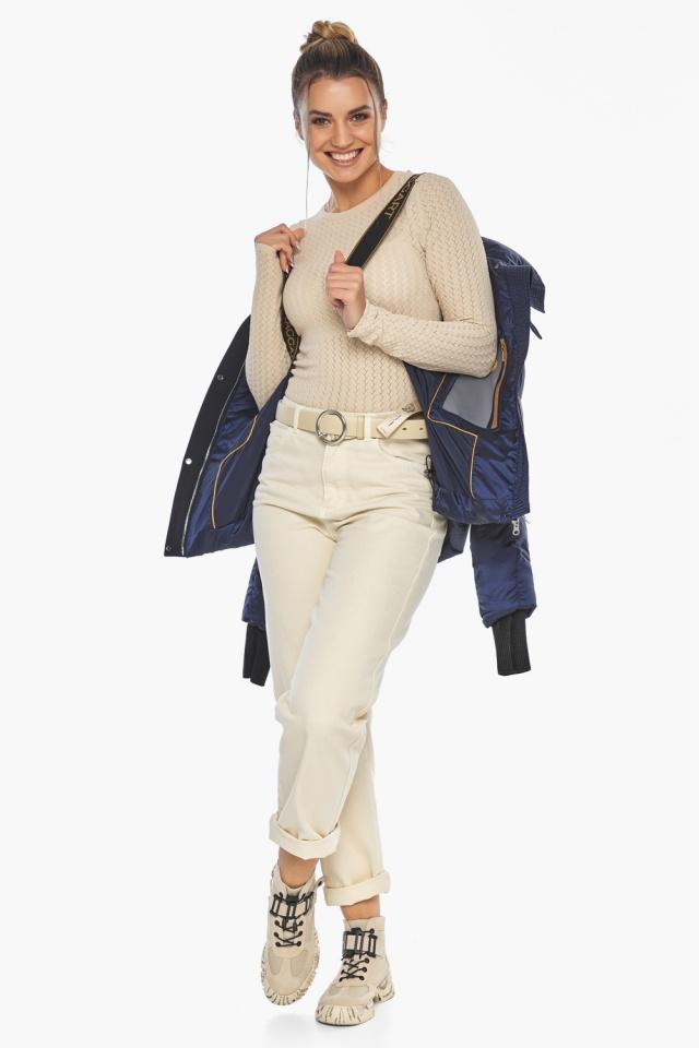"""Сапфировая куртка женская практичная модель 57520 Braggart """"Angel's Fluff"""" фото 4"""