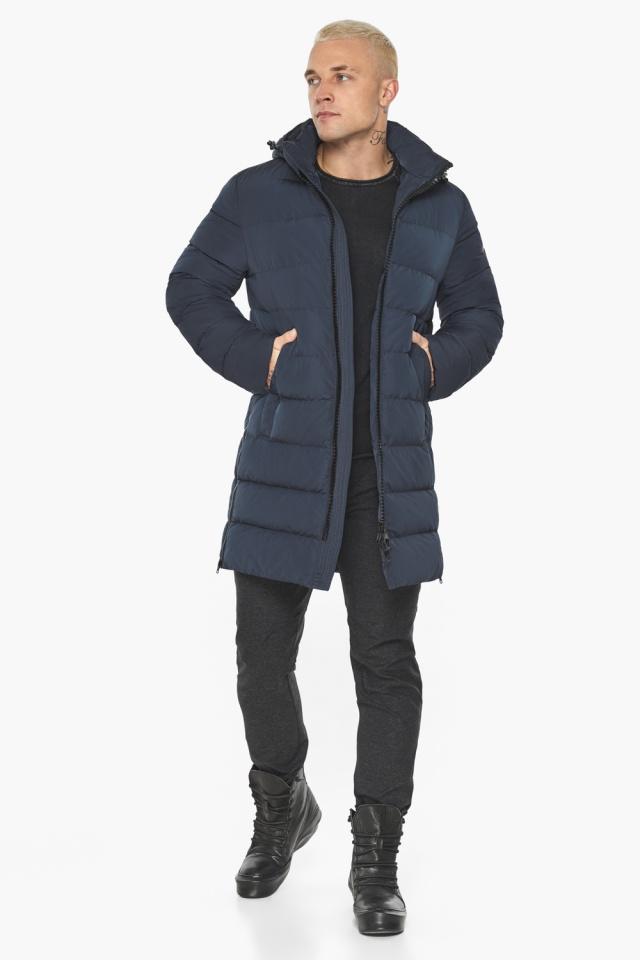 """Графитово-синяя оригинальная мужская куртка на зиму модель 49032 Braggart """"Aggressive"""" фото 3"""