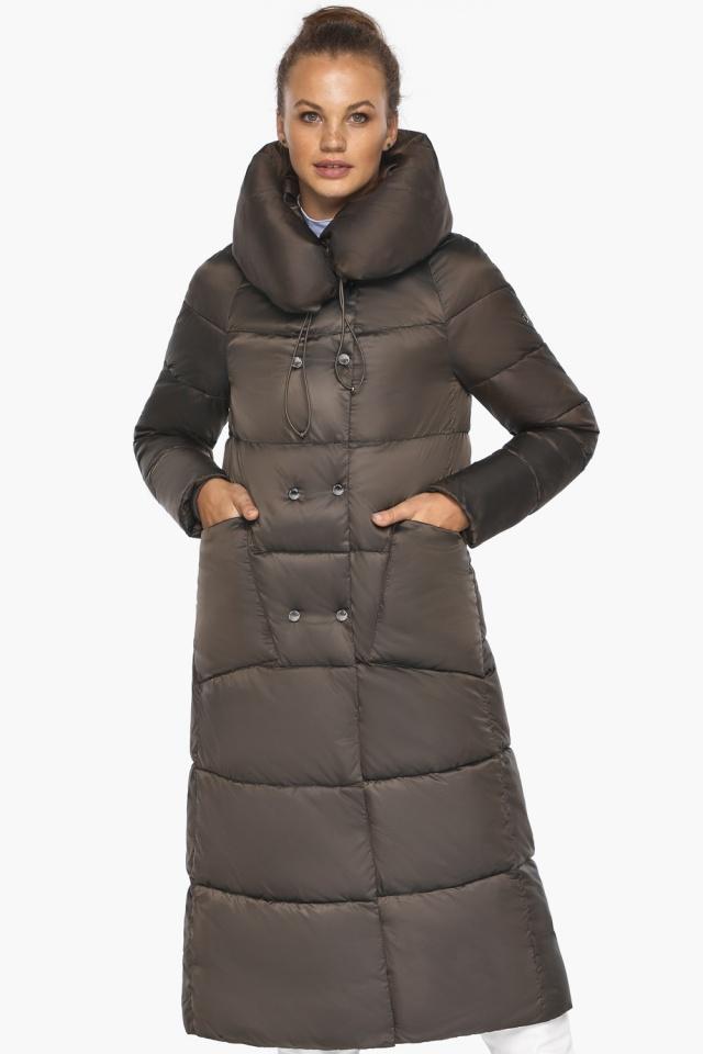 """Куртка женская с капюшоном зимняя цвет капучино модель 46150 Braggart """"Angel's Fluff"""" фото 4"""