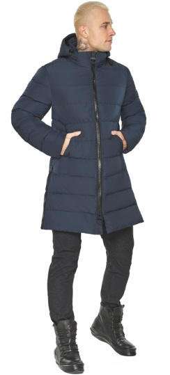 """Графитово-синяя оригинальная мужская куртка на зиму модель 49032 Braggart """"Aggressive"""" фото 1"""