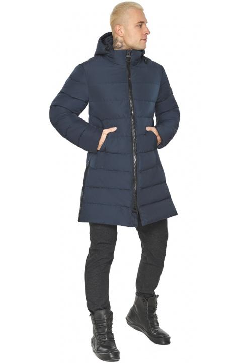 """Графітово-синя оригінальна чоловіча куртка на зиму модель 49032 Braggart """"Aggressive"""" фото 1"""