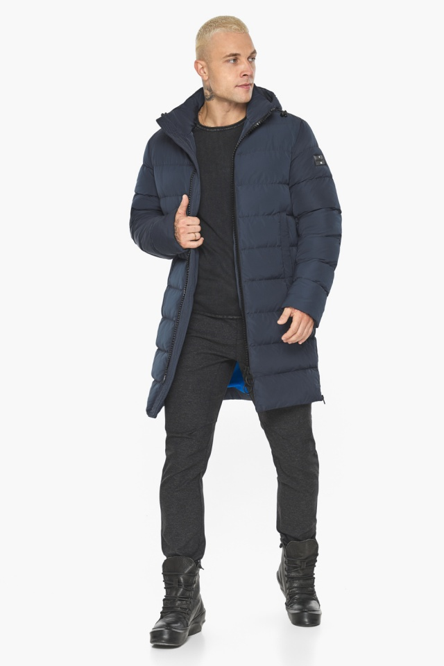 """Графитово-синяя оригинальная мужская куртка на зиму модель 49032 Braggart """"Aggressive"""" фото 6"""