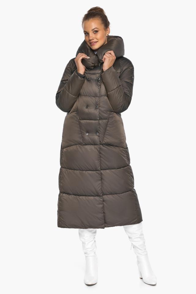 """Куртка женская с капюшоном зимняя цвет капучино модель 46150 Braggart """"Angel's Fluff"""" фото 2"""