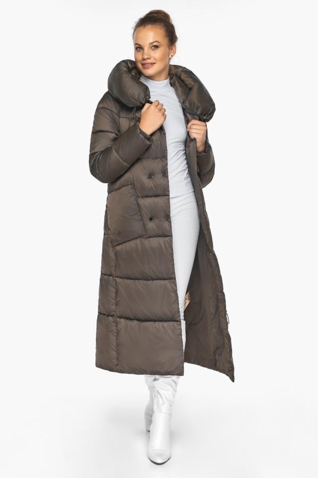 """Куртка женская с капюшоном зимняя цвет капучино модель 46150 Braggart """"Angel's Fluff"""" фото 3"""