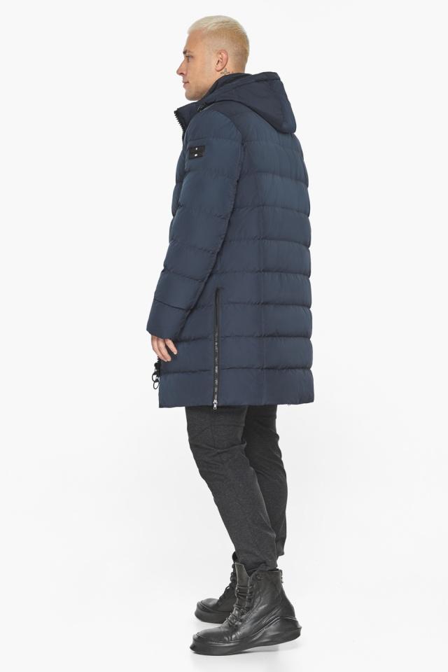 """Графитово-синяя оригинальная мужская куртка на зиму модель 49032 Braggart """"Aggressive"""" фото 8"""