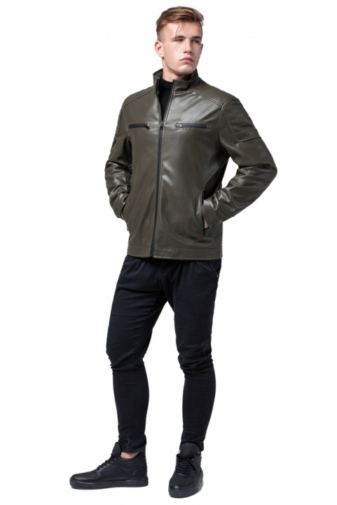 """Куртка чоловіча осінньо-весняна коротка кольору хакі модель 2612 Braggart """"Youth"""" фото 1"""
