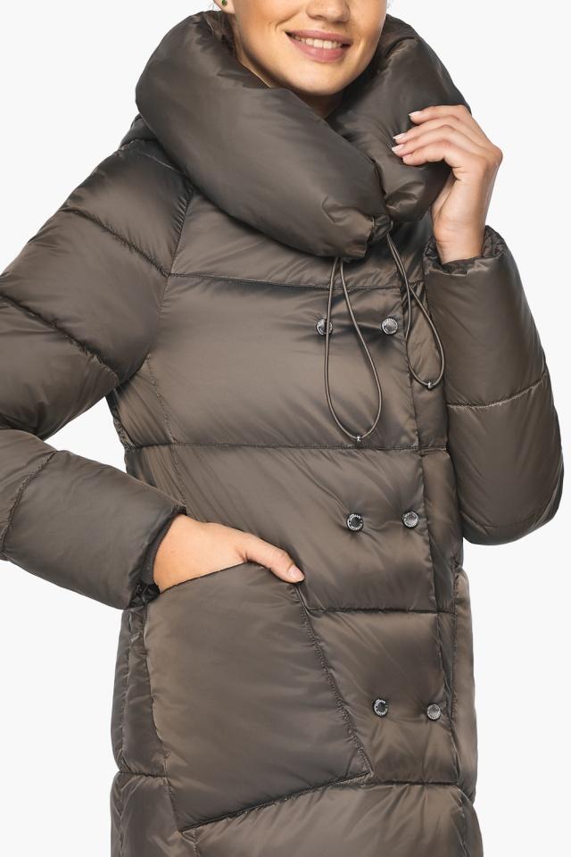 """Куртка женская с капюшоном зимняя цвет капучино модель 46150 Braggart """"Angel's Fluff"""" фото 9"""