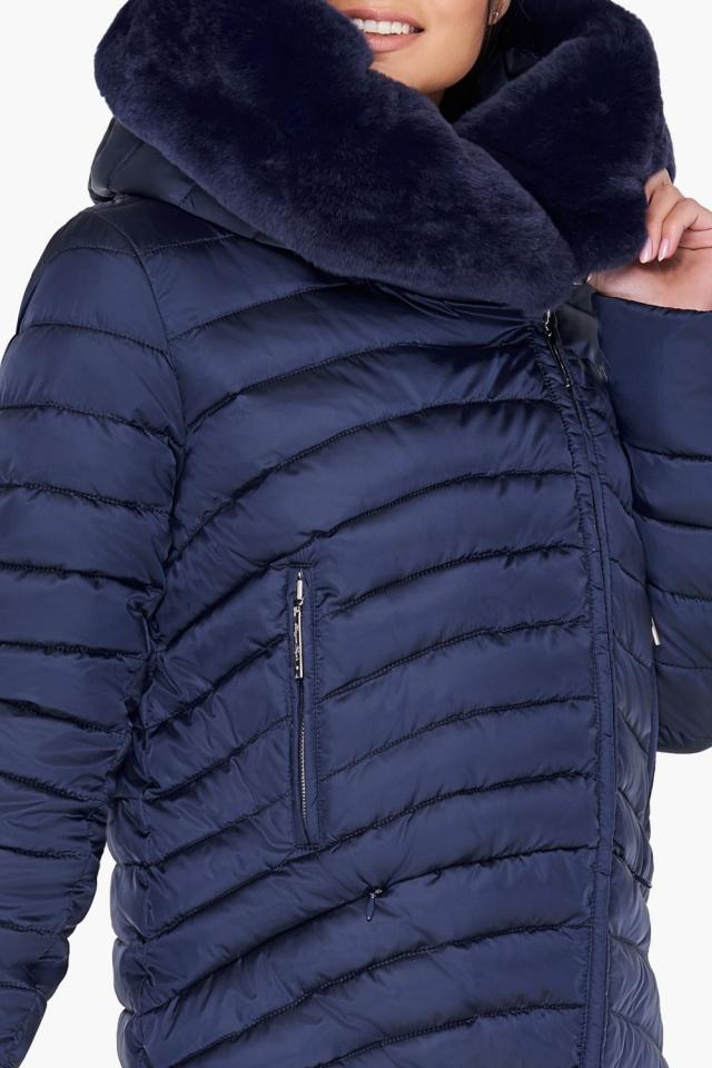 """Куртка трендовая синяя женская модель 31038 Braggart """"Angel's Fluff"""" фото 7"""