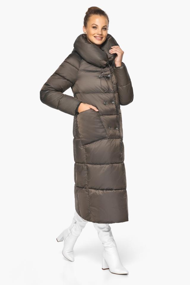 """Куртка женская с капюшоном зимняя цвет капучино модель 46150 Braggart """"Angel's Fluff"""" фото 5"""