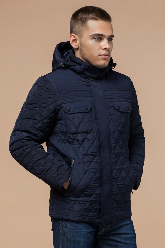 """Мужская зимняя куртка стеганая цвет синий модель 1698 Braggart """"Dress Code"""" фото 3"""