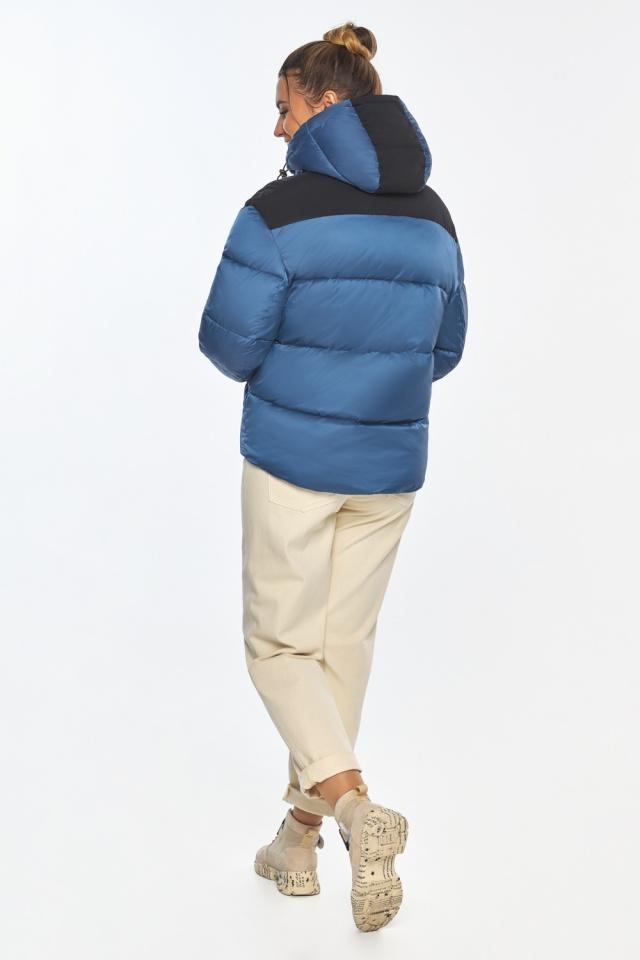 """Куртка женская с карманами аквамариновая зимняя модель 57520 Braggart """"Angel's Fluff"""" фото 6"""