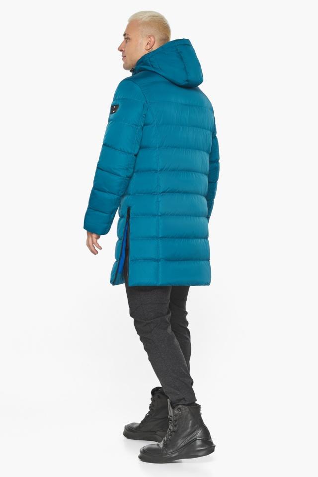 """Бирюзовая куртка мужская модная для зимы модель 49032 Braggart """"Aggressive"""" фото 9"""