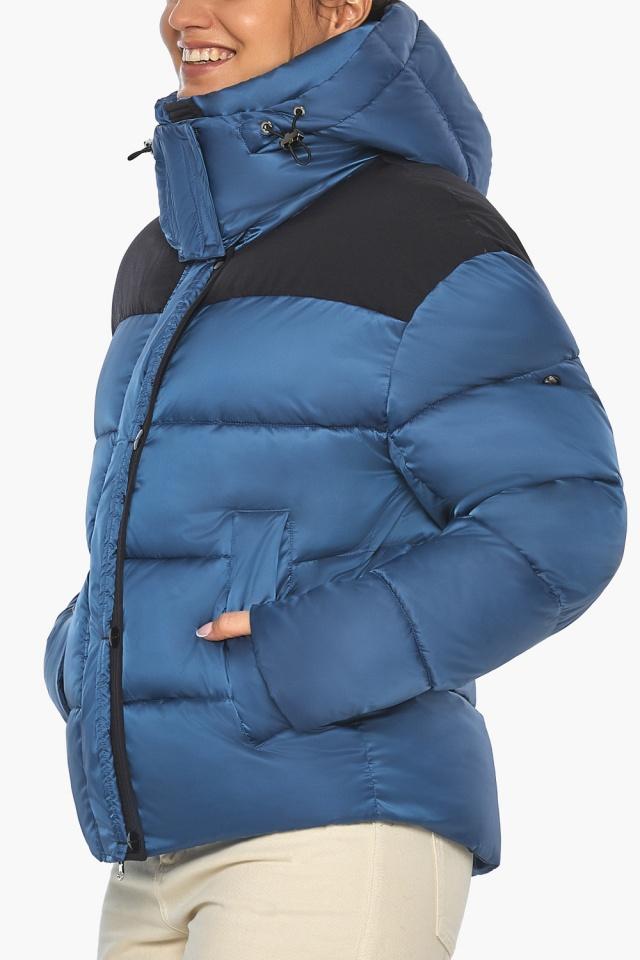 """Куртка женская с карманами аквамариновая зимняя модель 57520 Braggart """"Angel's Fluff"""" фото 7"""