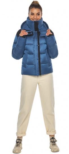 """Куртка женская с карманами аквамариновая зимняя модель 57520 Braggart """"Angel's Fluff"""" фото 1"""