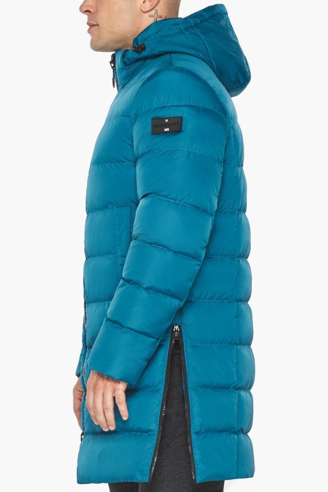 """Бирюзовая куртка мужская модная для зимы модель 49032 Braggart """"Aggressive"""" фото 10"""