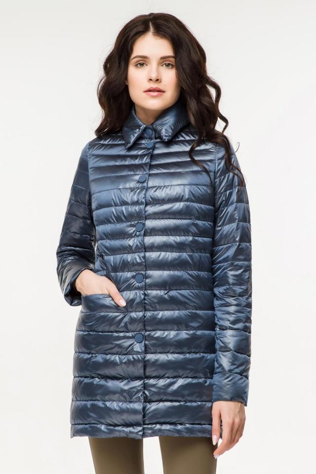 """Женская куртка трендовая цвет темная лазурь модель 41323 Braggart """"Angel's Fluff"""" фото 3"""