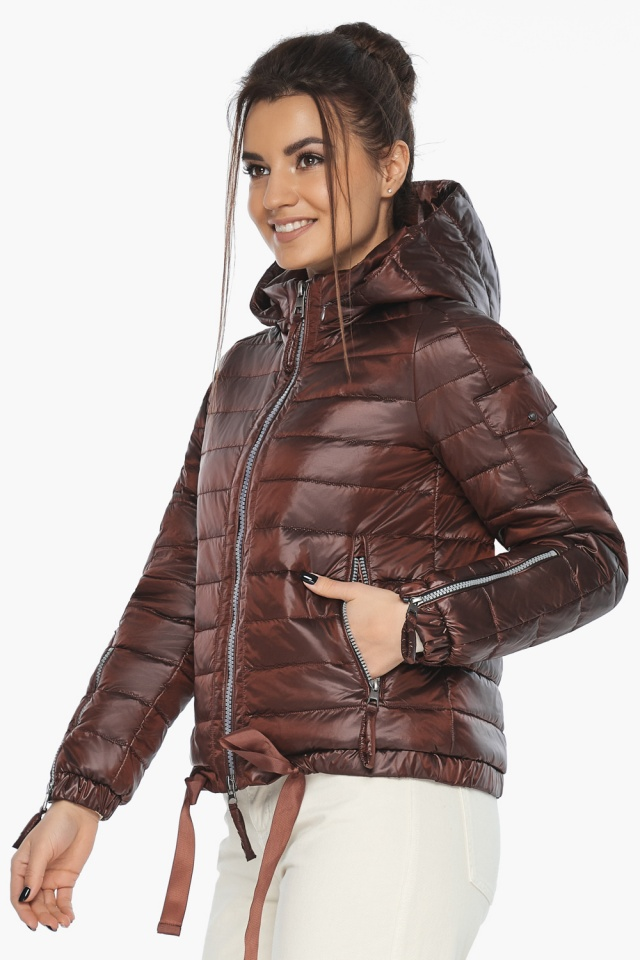 "Каштанова зручна куртка жіноча модель 62574 Braggart ""Angel's Fluff"" фото 3"