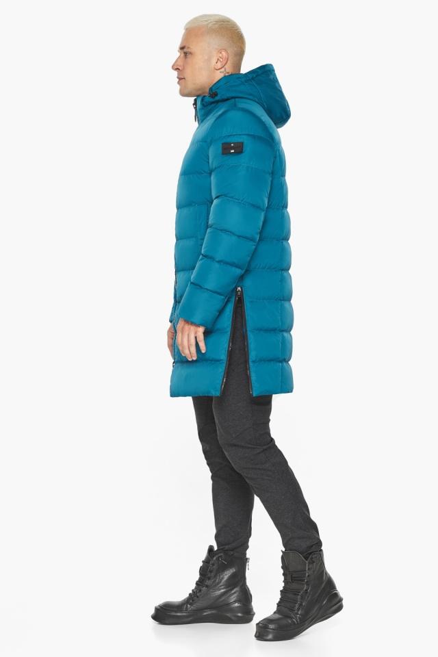 """Бирюзовая куртка мужская модная для зимы модель 49032 Braggart """"Aggressive"""" фото 8"""