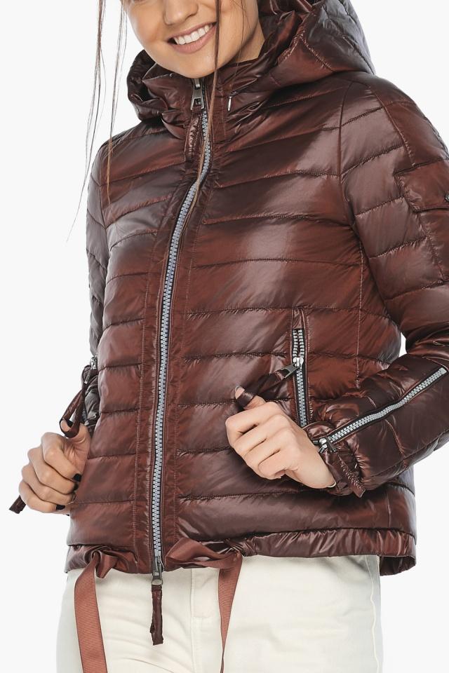 "Каштанова зручна куртка жіноча модель 62574 Braggart ""Angel's Fluff"" фото 7"