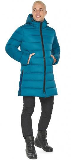 """Бирюзовая куртка мужская модная для зимы модель 49032 Braggart """"Aggressive"""" фото 1"""