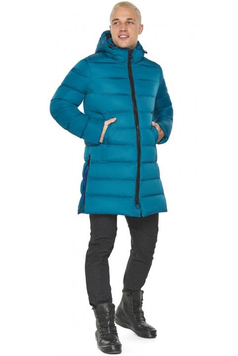 """Бірюзова куртка чоловіча модна для зими модель 49032 Braggart """"Aggressive"""" фото 1"""