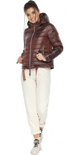 """Каштановая удобная куртка женская модель 62574 Braggart """"Angel's Fluff"""" фото 1"""